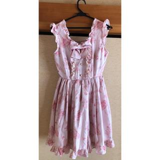 リズリサ(LIZ LISA)のLIZ LISA ピンク 花柄 ワンピース(ひざ丈ワンピース)