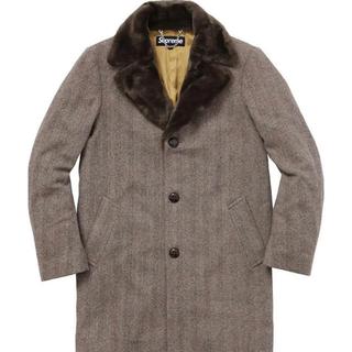 シュプリーム(Supreme)のSupreme Fur Collar Tweed Coat S(チェスターコート)