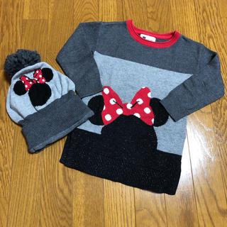 ベビーギャップ(babyGAP)のbabyGap Disney ニットセーター 帽子 ミニーマウス(ニット)