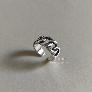 Ameri VINTAGE - 【 NEW 】925 wide chain ring *