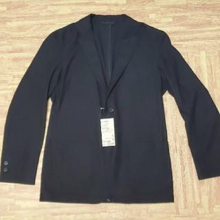 ムジルシリョウヒン(MUJI (無印良品))の無印良品 ストレッチ 起毛 ジャケット 黒 M(テーラードジャケット)