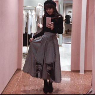 eimy istoire - レア♡ブラック♡eimyエイミー♡ギンガムチェックラッフルスカート♡