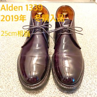 Alden - 極上&美品 Alden 1339 6.5E バーガンディ シューキーパー付属