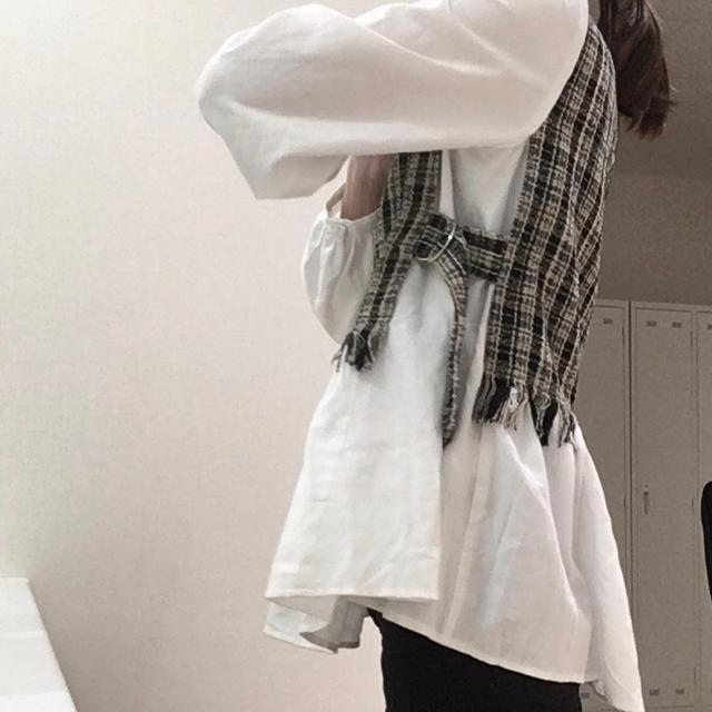 しまむら(シマムラ)のしまむら ☆ ツイードドッキングブラウス レディースのトップス(シャツ/ブラウス(長袖/七分))の商品写真