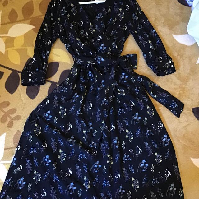 tocco(トッコ)のトッコクローゼット レヴィニーワンピース黒 レディースのワンピース(ロングワンピース/マキシワンピース)の商品写真