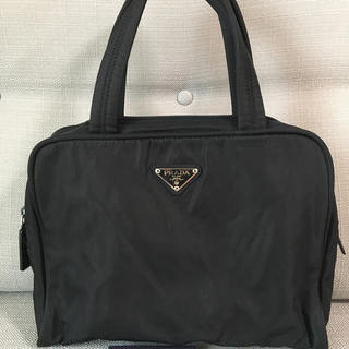 PRADA - PRADA/プラダ ハンドバッグ ミニボストン 鍵付き 黒/ブラック ナイロン