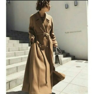 アメリヴィンテージ(Ameri VINTAGE)のAmerivintage BELT FLARE LONG COAT(ロングコート)