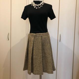 トッカ(TOCCA)のTOCCA ウール ツイードスカート 新品タグ付き(ひざ丈スカート)