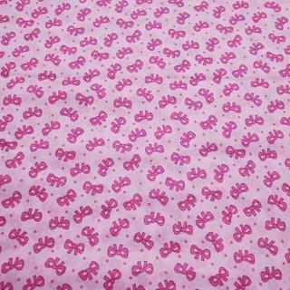 ローラアシュレイ(LAURA ASHLEY)のローラアシュレイ リボン ピンク 生地 はぎれ カットクロス pink(生地/糸)