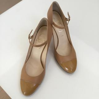 ギンザワシントン(銀座ワシントン)のほぼ新品 銀座ワシントン靴 ベージュコンビ 25cm(ハイヒール/パンプス)