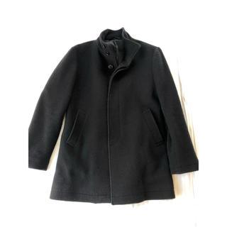 ムジルシリョウヒン(MUJI (無印良品))の無印良品 ウールコート 黒Sサイズ(チェスターコート)