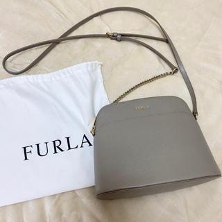 【美品】FURLA フルラ ショルダーバッグ ベージュ グレージュ