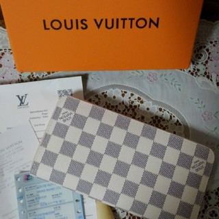 LOUIS VUITTON - ルイヴィトン ダミエ アズール ジッピーウォレット 長財布