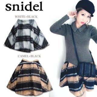 snidel - snidel シャギーチェックスカート ウールスカート