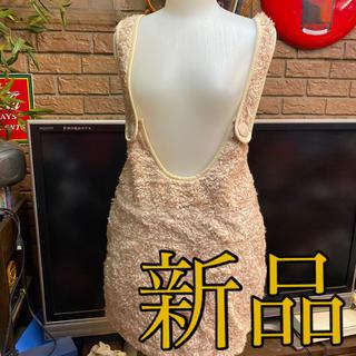 ピンクラテ(PINK-latte)の新品ピンクラテサロペットスカート定価3465サイズM(ミニスカート)