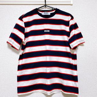 エムエスジイエム(MSGM)のMSGM★ボーダーオーバーTシャツ(Tシャツ(半袖/袖なし))