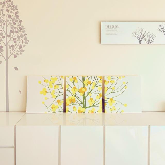 marimekko(マリメッコ)のmarimekko マリメッコ ファブリックパネル 40×40 3点セット ハンドメイドのインテリア/家具(インテリア雑貨)の商品写真