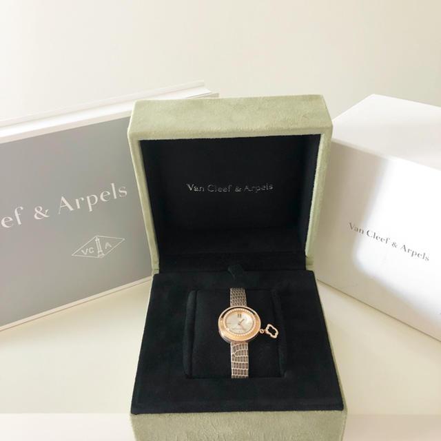 Van Cleef & Arpels(ヴァンクリーフアンドアーペル)のヴァンクリーフ&アーペル チャーム ミニ ダイヤモンド アルハンブラ 時計 レディースのファッション小物(腕時計)の商品写真