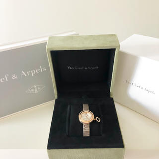 Van Cleef & Arpels - ヴァンクリーフ&アーペル チャーム ミニ ダイヤモンド アルハンブラ 時計