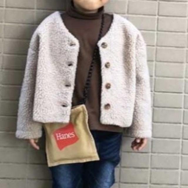 CIAOPANIC TYPY(チャオパニックティピー)のボア2wayカーディガン キッズ/ベビー/マタニティのキッズ服女の子用(90cm~)(カーディガン)の商品写真