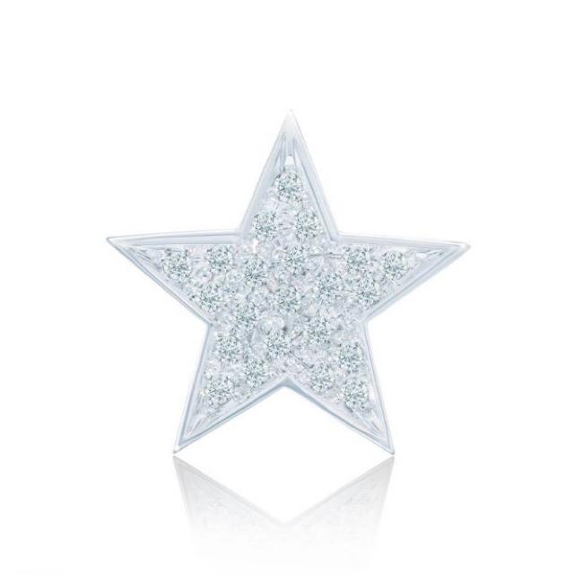 Drawer(ドゥロワー)のBijou de M お星様ピアス ホワイトゴールド レディースのアクセサリー(ピアス)の商品写真