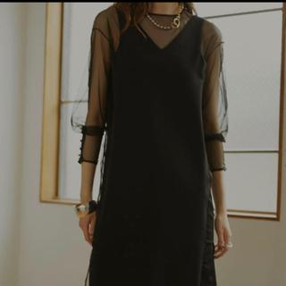 Ameri VINTAGE - アメリAmeri TULLE DOCKING DRESS