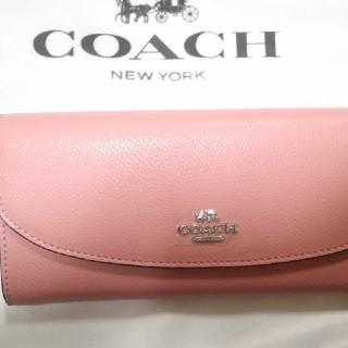 COACH - いいね!ありがとうコーチピンク長財布
