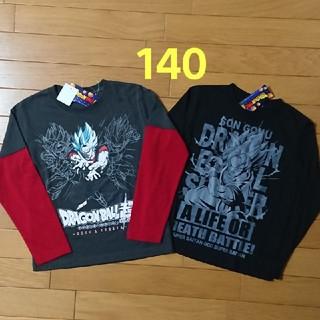 ドラゴンボール(ドラゴンボール)の新品☆140cm ドラゴンボール ロンT 長袖 2枚 トップス シャツ 悟空 (Tシャツ/カットソー)