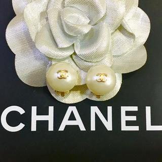 CHANEL - 正規品 シャネル イヤリング パール ココマーク 金 丸 ゴールド 真珠 ロゴ