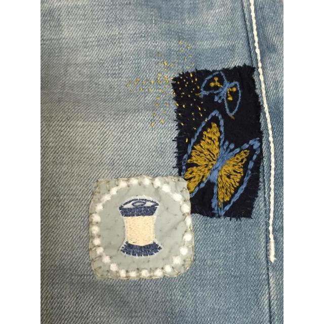 mina perhonen(ミナペルホネン)のミナペルホネン always パッチワーク デニム USED ハンドメイド レディースのパンツ(デニム/ジーンズ)の商品写真
