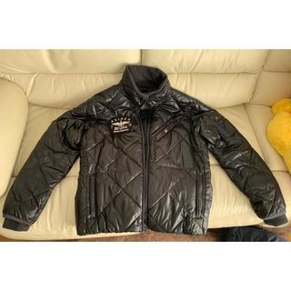 アヴィレックス(AVIREX)のAVIREX アーチロゴ 中綿ダウンジャケット ◯ サイズ:L ◯ 黒 ブラック(ダウンジャケット)