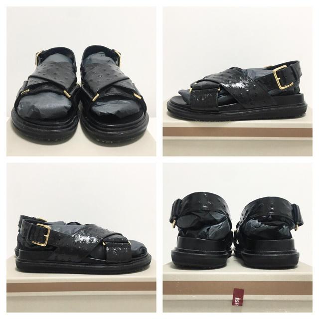 MARNI マルニ フスベットサンダル 37 ブラック 靴 シューズ レディースの靴/シューズ(サンダル)の商品写真