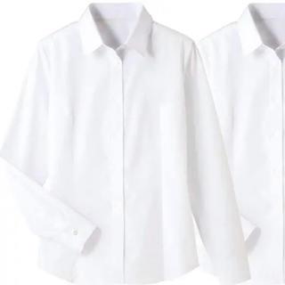 セシール(cecile)の【cecile】形態安定レギュラーカラーシャツ(長袖) ホワイト LL(シャツ/ブラウス(長袖/七分))