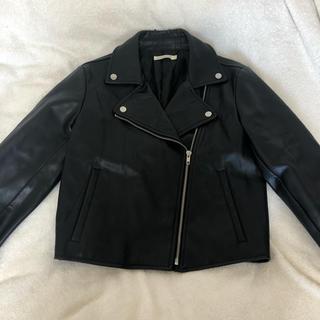 ウィゴー(WEGO)のWEGO ライダースジャケット 黒(ライダースジャケット)