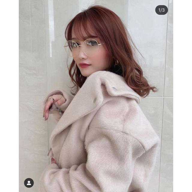 eimy istoire(エイミーイストワール)のeimy istoire 新品 エアリーシャギーライダース レディースのジャケット/アウター(ライダースジャケット)の商品写真