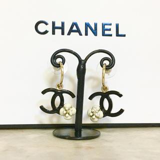CHANEL - 正規品 シャネル ピアス フープ ココマーク カメリア ロゴ 花 ゴールド 金