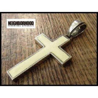 ネイバーフッド(NEIGHBORHOOD)の希少 ネイバーフッド シルバー 925 クロス 十字架 ペンダント トップ 白(その他)