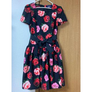 M'S GRACY - エムズグレイシー 新品 花柄 薔薇 ピンク 赤 黒 ワンピース