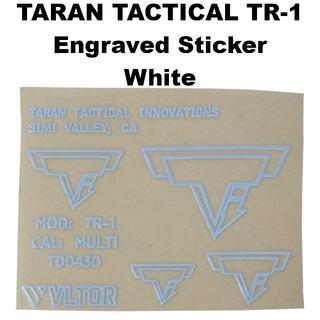 TARAN TACTICAL TR-1 刻印 メタル ステッカー 1354r(カスタムパーツ)