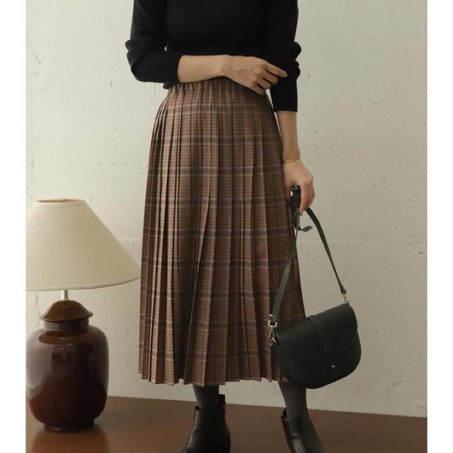 DOORS / URBAN RESEARCH(ドアーズ)の《新品》アーバンリサーチドアーズ💕チェックプリーツスカート レディースのスカート(ロングスカート)の商品写真