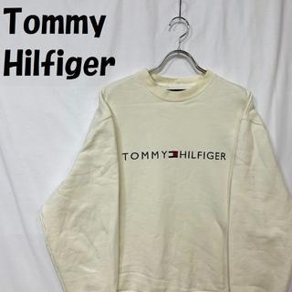 TOMMY HILFIGER - 【人気】トミーヒルフィガー 刺繍ロゴ トレーナー スウェット サイズS