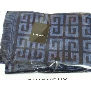 GIVENCHY - Givenchyジバンシーマフラーネイビーブルー系パリ男性メンズ