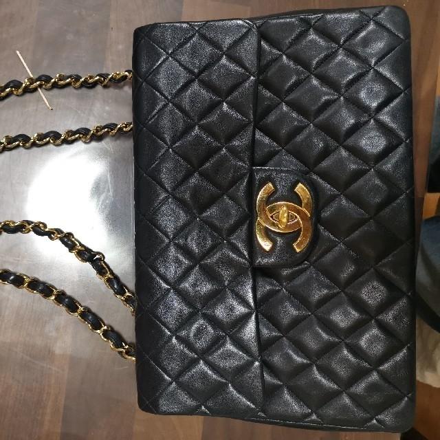 CHANEL(シャネル)の販売済 本物保証 CHANEL シャネル ラムスキン デカ マトラッセ レディースのバッグ(ショルダーバッグ)の商品写真