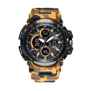 SMAEL 1708MC スポーツウォッチ(迷彩タイプ、イエロー)(腕時計(デジタル))