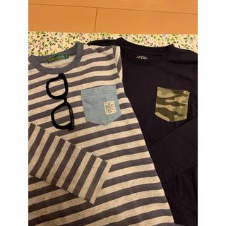 クリフメイヤー(KRIFF MAYER)のポケット切り替え ロンT  140cm  2枚セット(Tシャツ/カットソー)