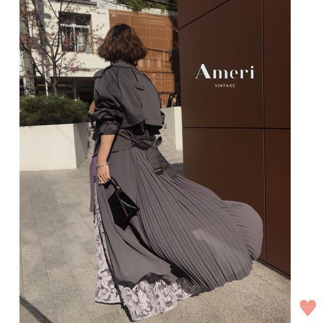 Ameri VINTAGE(アメリヴィンテージ)の美品☆ AMERI♡2019年 3WAYDOCKING COAT ¥29,480 レディースのジャケット/アウター(ロングコート)の商品写真