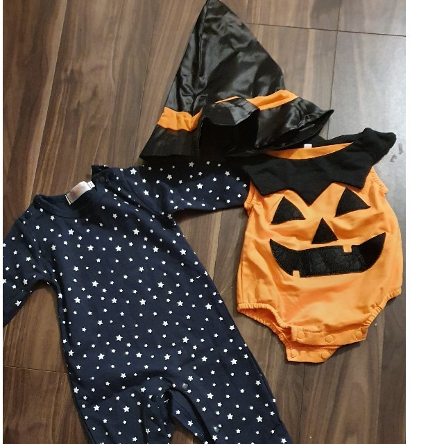 ハロウィンコスプレ 70cm キッズ/ベビー/マタニティのベビー服(~85cm)(ロンパース)の商品写真
