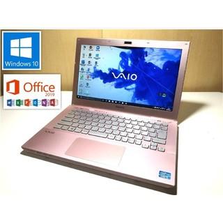 SONY - オフィス2019!バッテリー新品!可愛いピンクのSONY SVS13129CJP