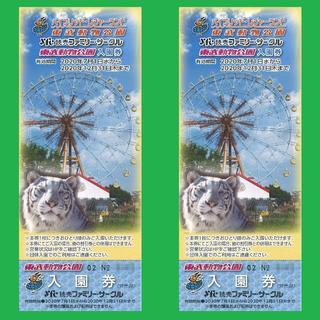東武動物公園 無料ご招待券 無料入園券 2枚セット ペア(動物園)
