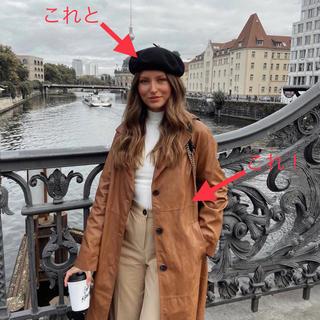 エイチアンドエム(H&M)のセット ロングコート ニット帽(ロングコート)